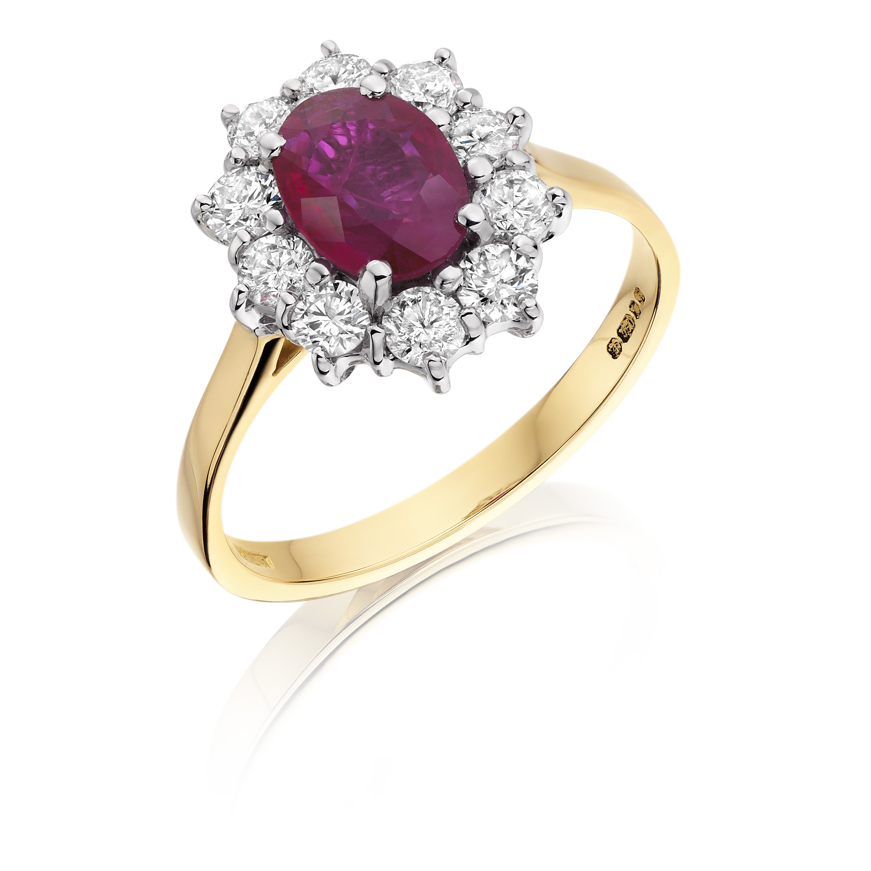 Oval Diamond Ring Yellow Gold
